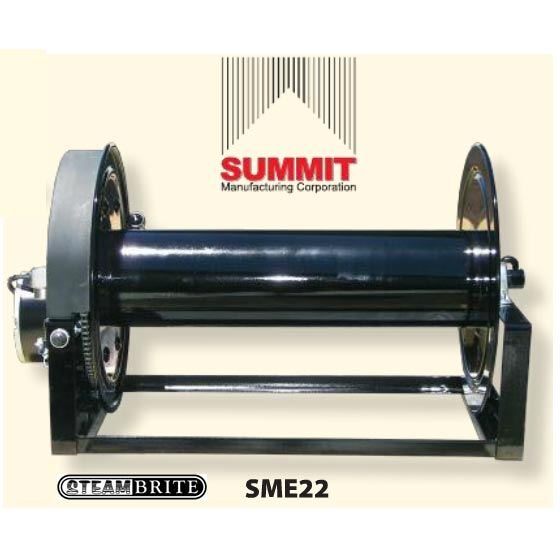 Summit Electric Hose Reel 12 Volts 3/8 inch X 300 ft 4000psi 250 degree 1/2 Fip Swivel 70lbs SME12