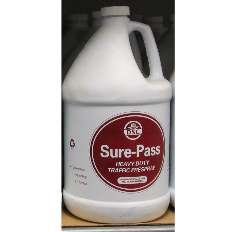 DSC Products: Sure-Pass Heavy Duty Traffic PreSpray - 8 Gallons (2 cases)