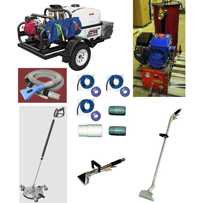 Clean Storm 38hp Synergistic Trailer Truckmount Package Pressure Washer Vacuum Recovery Machine Flood Pumper