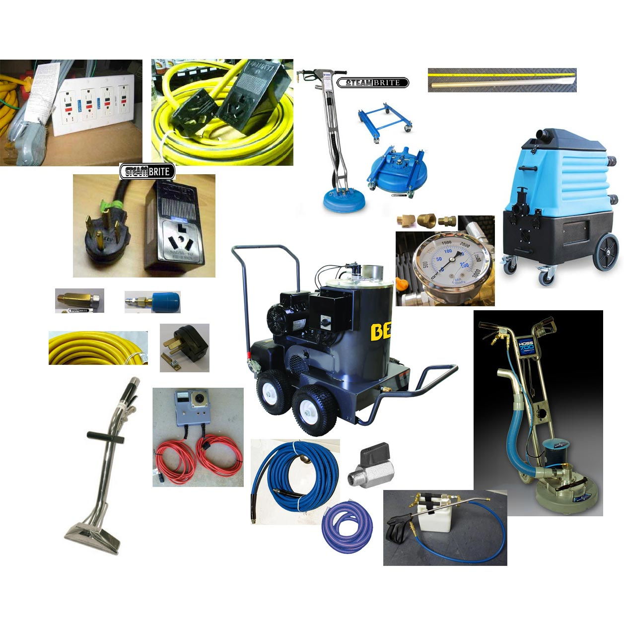 Tile Cleaning Pressure Washing Carpet Cleaning Synergistic HOT Starter Package Includes Mytee 7000LX, Hoss700  20150899