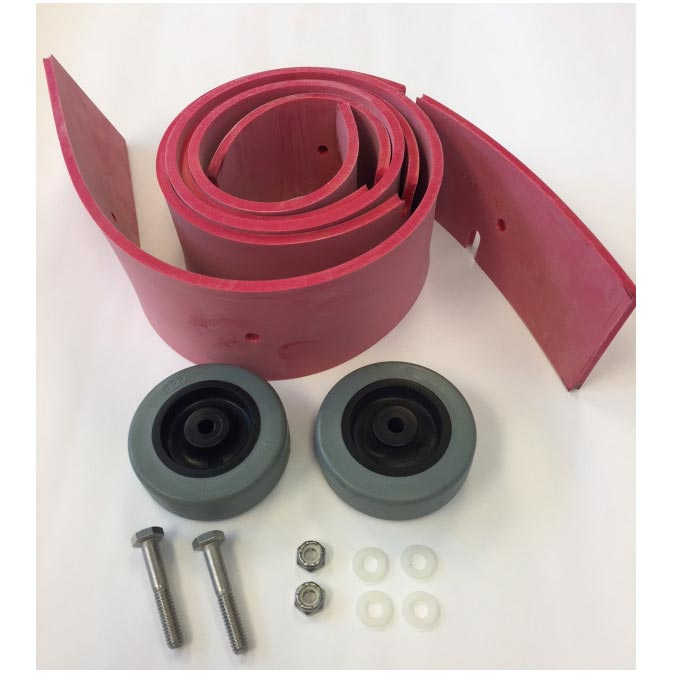 Tom Cat 25-770L Squeegee Blade and Wheel Rebuild Kit, Fits 35in GUM (9.108-364.0)