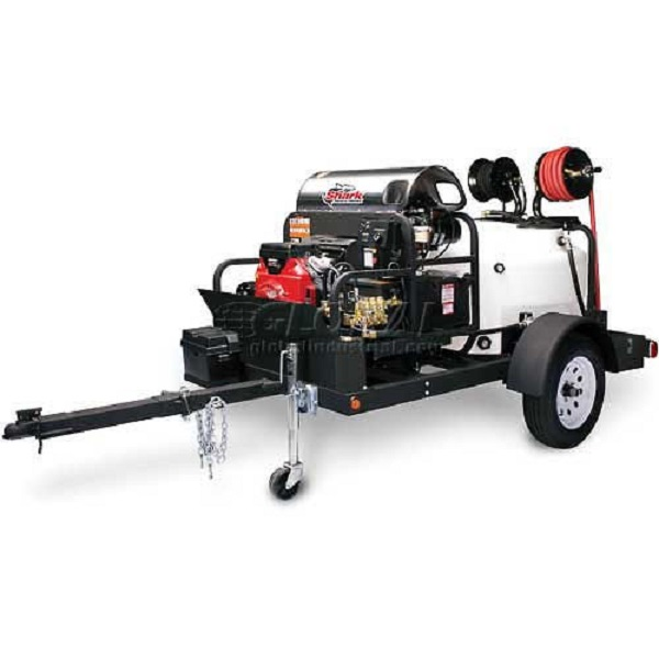 Shark Hot Water Trailer ***Package*** 4.7 GPM 3500 PSI 200 Gallon Hot Water Pressure Washer Trailer TRS-3500-S Package 1.103-828.0