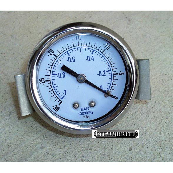 "Vacuum Gauge Fits most truckmounts 2in Hole SBMvg X 1/4"" Mip back connection"