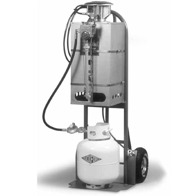 The Air Source Heat Pump, coupled with a propane furnace, may be a solution for your heating and cooling needs. A Heat Pump looks just like a central air conditioning