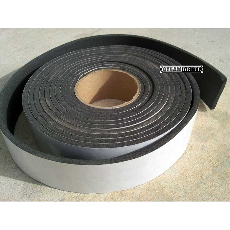 Sapphire 41-028 Truckmount Waste Tank Rubber Gasket 1/4in Thick X 2in Wide X 50 ft Roll with Adhesive A023-10A  20-0668