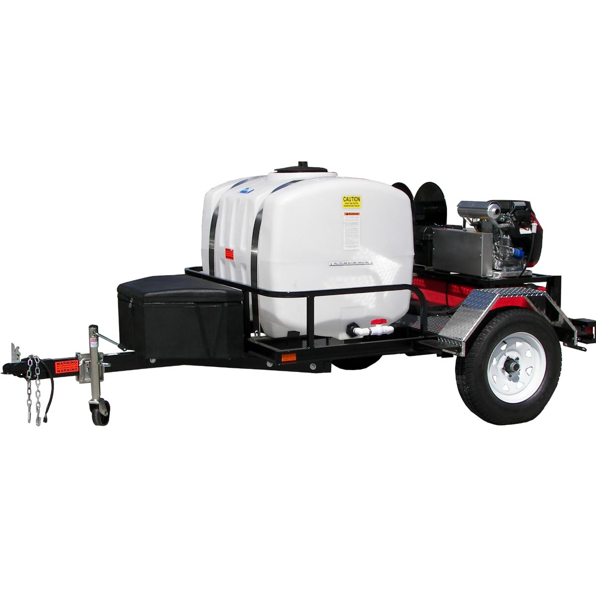 Clean Storm 20180712 Pressure Washer Tow-Pro Trailer Outfit 4000 PSI @ 5 GPM AR Pump HOT FREE Shipping 18 hp Briggs Vanguard