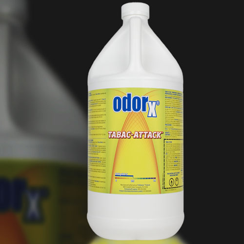 Chemspec 342002907 OdorX Tabac-Attack 4/1 Gallon CASE WATER Based pH 5.2 Unsmoke Prorestore A57518