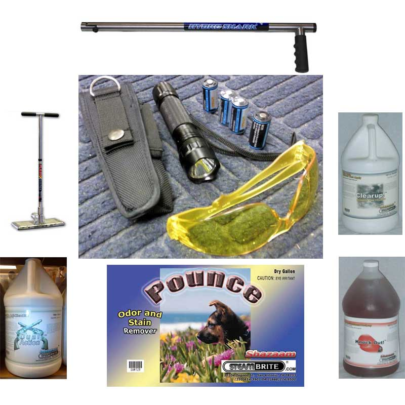 Pet Odor Removal, Urine Stain Removal, Odor Control Starter Chemical and Location Package