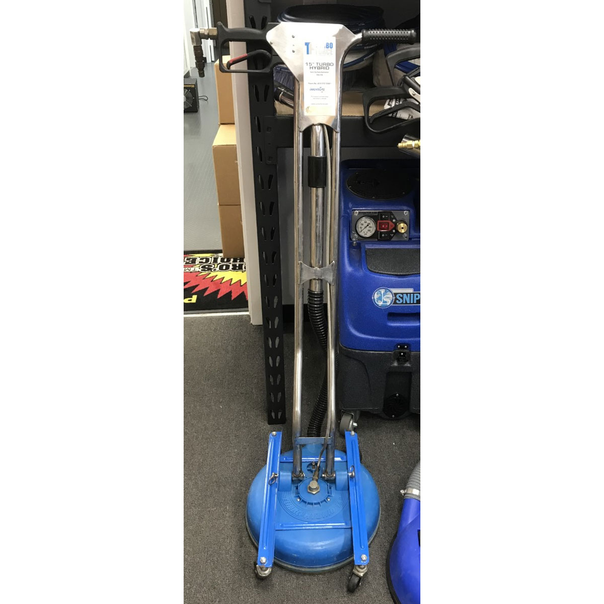 Used Turboforce TH15 Demo Tile and Concrete Cleaning Wand 15 inches TH-15 With Wheels Bundle B+ Rated