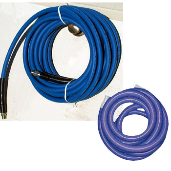Shazaam: Hose Set - 25ft  x 1.5in - Vacuum & 1/4in Solution with QD installed