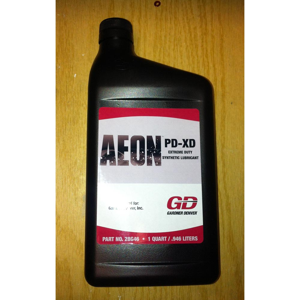 Gardner Denver Brand Blower Oil Aeon PD-XD Full Synthetic Formula Extra Heavy Duty for High Heat Applications 28G47 Case 12/Qts