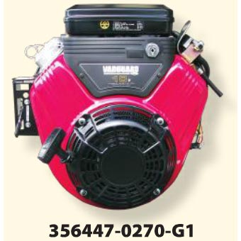 Briggs & Stratton Vanguard 356447-0270-G1 V-Twin Horizontal Engine Electric Start 18 HP 1in Shaft 20amp Charging Pressure Pro FREE Exhaust System!