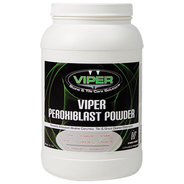 Hydroforce ch48a viper peroxiblast powder jar for Alkaline concrete cleaner