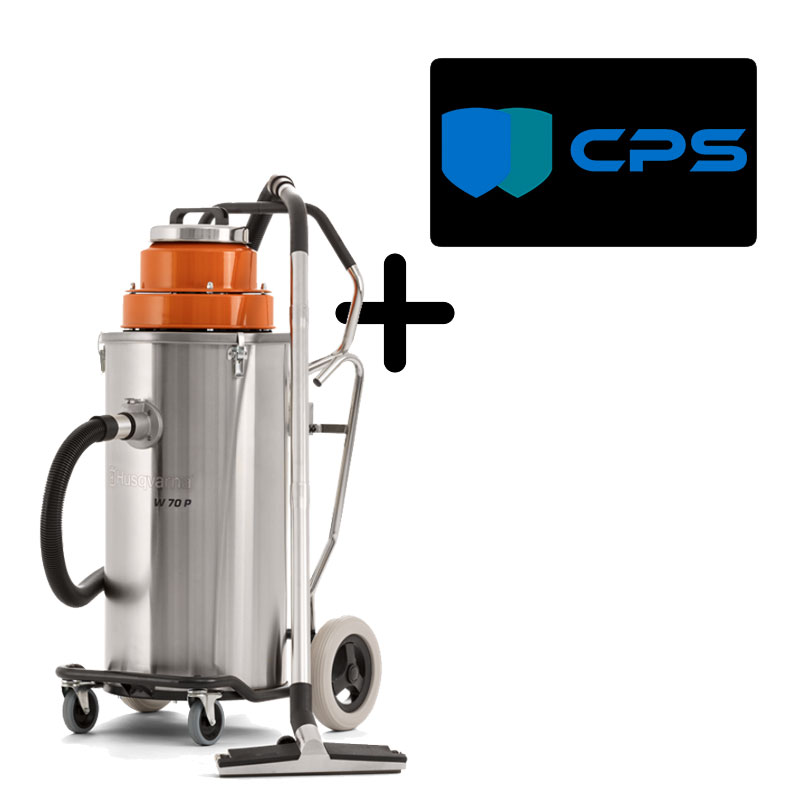 Husqvarna W 70 P Wet Vacuum Dust Slurry Automatic Pump Out W70P 967664701 120V Freight Included 3Yr Warranty Bundle