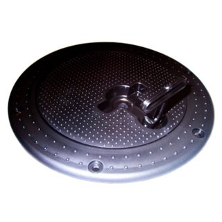Sandia Plastic 7 inch Black Waste Tank Black Lid T-Handle (fits Mytee G090 and Olympus too) Twist Lock Rotovac TMC6010  [G090]