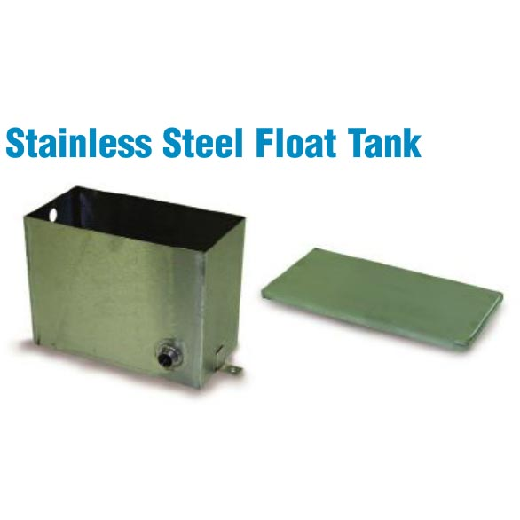 "Stainless Water Box Float Tank with Lid 12"" X 9"" X 6"" for Truckmounts and Pressure Washers"