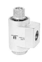 Mosmatic 43.262 90° Swivel, stainless WDBL-10 3/8 in. NPT F 3/8 in. NPT M