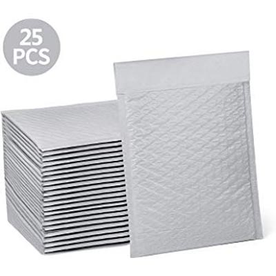 Plastic Coated #0 Poly Bubble Mailer - White, 25 pk, 6in x 9in  [20181004]  8.723-103.0
