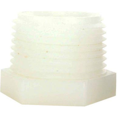 White Nylon Plastic Bushing 1 in Mip X 1/2 in Fip 28671W  28-671W