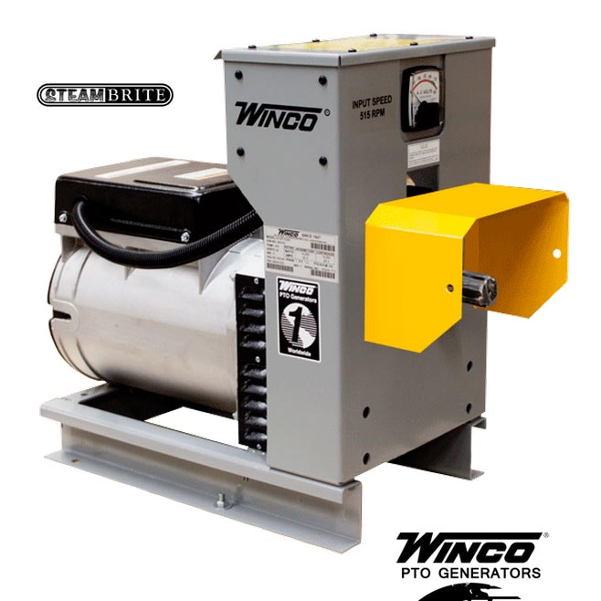 Winco Generators W15PTOS Power-Take Off Generator 120Volt 60Hz 30hp 540rpm 15kW Brushless 63Amps