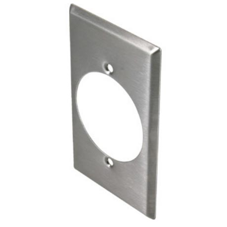 Stainless Steel Single Gang Receptacle Wall Plate for 30 or 50 Amp Receptacle Type 430