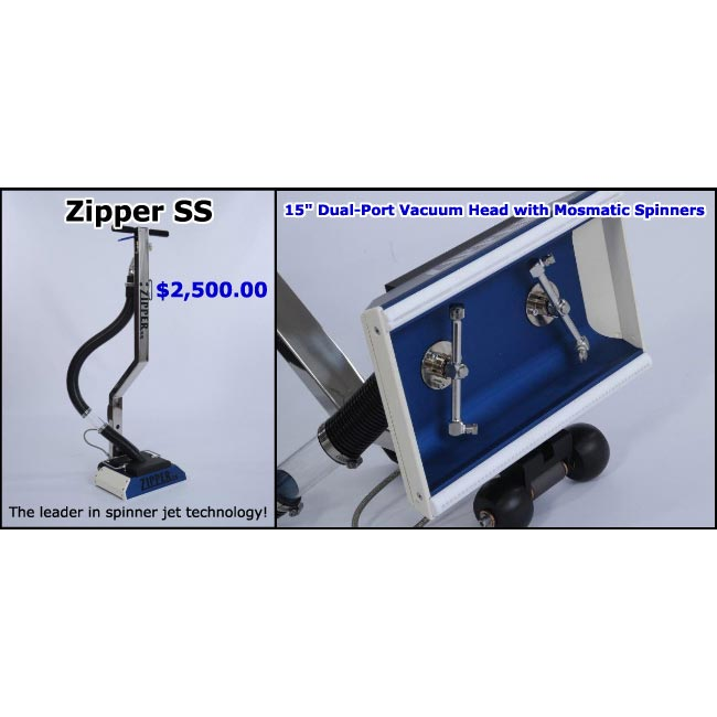 Zipper SS 15in Dual-Port Vacuum Head w/ Mosmatic Spinners FREE Shipping + Receive $35 Store Credit Coupon ZipperSS