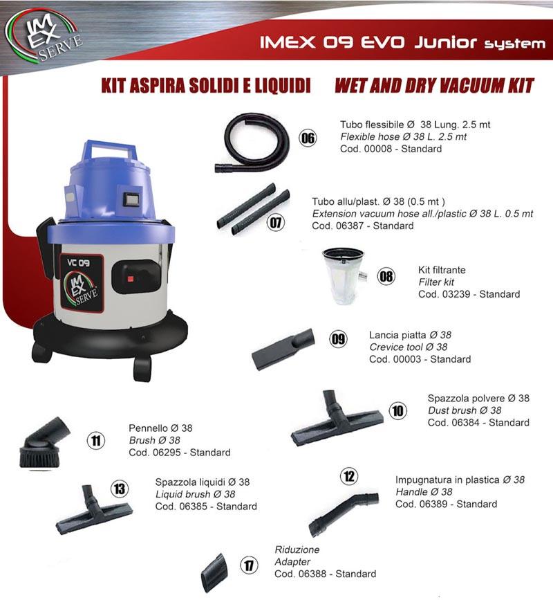 ImexService Junior vapor steam vacuum system with tools
