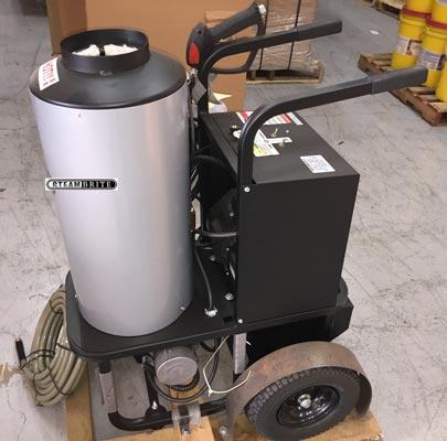tile cleaning pump and heater