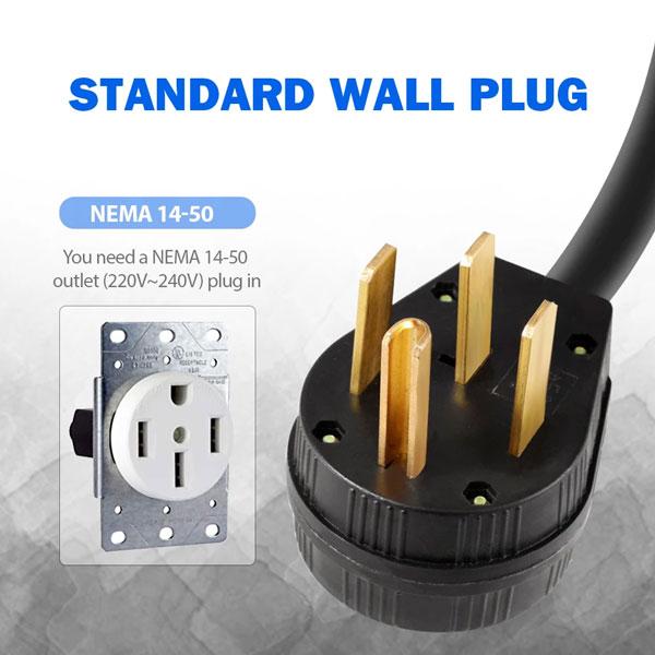 NEMA 14-50 electric car charger 32 amps
