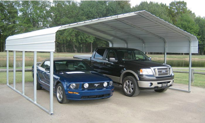 metal 2 car carport