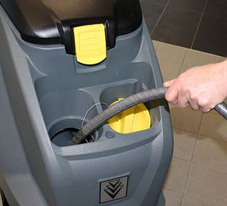 Karcher b 40 c auto scurbber how to fill