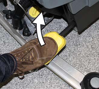 Karcher b 40 c auto scurbber foot petal control