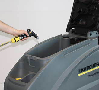 Karcher b 40 c bp auto scrubber tank cleaning