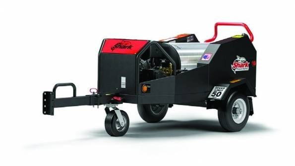 Shark Trailer Mounted Hot 3.5 GPM 4000 PSI Electric Start Pressure Washer SMT-354037E 1.103-841.0