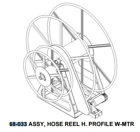 68-033 electric hose reel.
