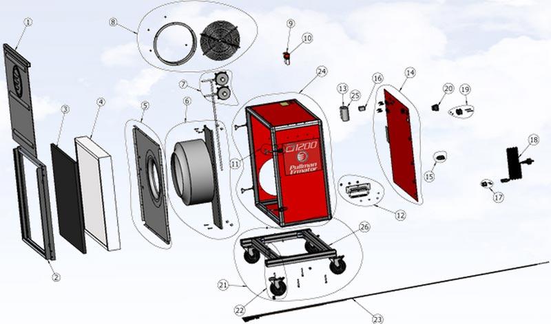 Ermator A1200 Air Scrubber Parts