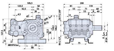 Ar Pump Rca2g22e F8 Replacement Pressure Washer 2 Gpm 2200