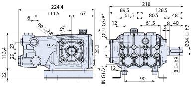 Ar Pump RRA35G30N Industrial Replacement Pressure Washer Triplex Ceramic Plunger 3.5 gpm 3000 psi 1750 rpm