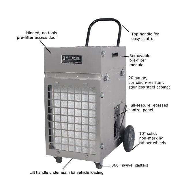 Abatement Technologies Pas 2400 Hepa Aire Portable Air