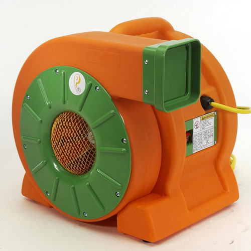 """AirFoxx High Velocity 1.5 HP 1180 CFM Commercial Grade Utility Blower: DB1500a      Weight: 38 lbs     Width: 17     Length: 18     Height: 16     Color: Orange/Green     Construction: Polyethylene     CFM: 1800     Horse Power: 1/2     Power Cord Length: 25'     Voltage: 110     Amp: 9     Impeller Diameter: 9""""     Static Pressure: 11""""     Sound Rating dB: 60"""