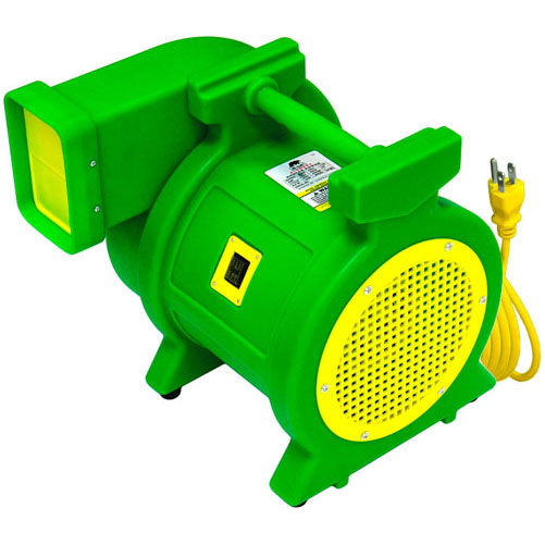 "The 2+ HP Kodiak blower (#KP-2+) is the latest high efficiency B-Air designed blower for commercial* use.   The Kodiak produces unparallel 1520 CFM with 10.8"" of static pressure ensuring proper inflation of larger and older commercial* Inflatables.  The most powerful yet, the KP-2+ will inflate any large inflatable play structure.  We are proud to offer the Super Kodiak Power Model # KP-2+ as the ultimate in 2+ HP blowers.   *	Model #KP-2+ for commercial applications only and must be supervised at all times, not intended for home use."