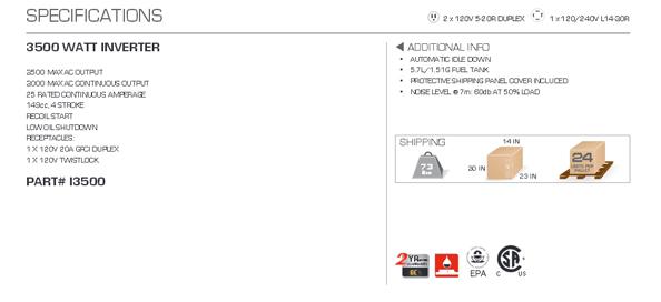 be 3500 watt inverter generator manual