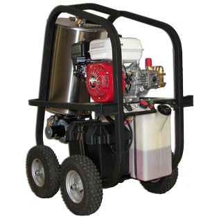hot pressure washer electric start gasoline powered hydrotek wheels SH40004HH