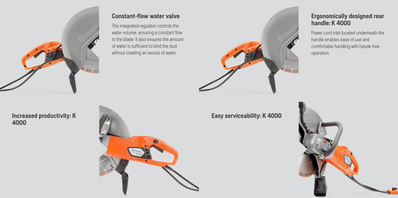 Husqvarna K4000 electric saw features