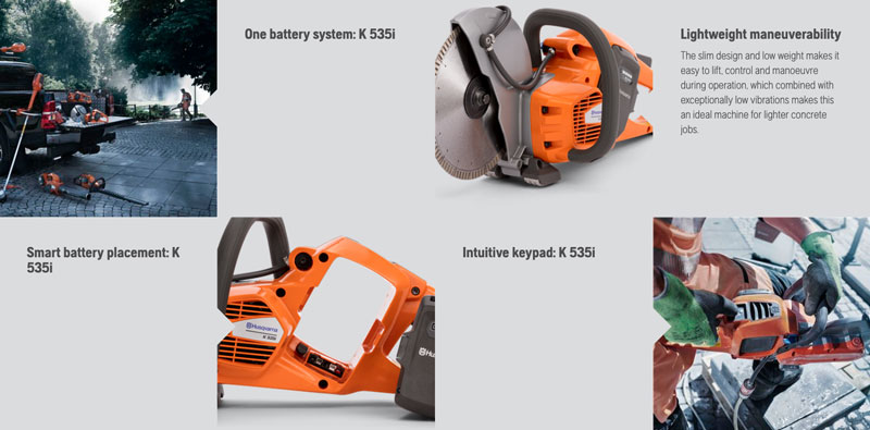 Husqvarna K535i battery saw features