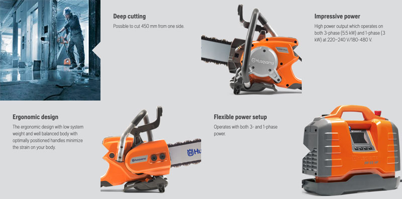 Husqvarna K6500 chain saw features