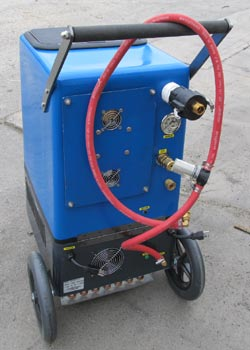 Goliath 500 heated flood pumper and carpet cleaning machine