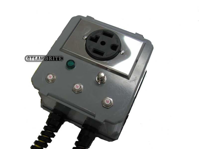 Power Step Up Inverter Takes Dual 20 Amp 115 Volt Outlets