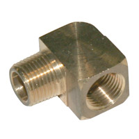 1/8 inch street brass 90 elbow