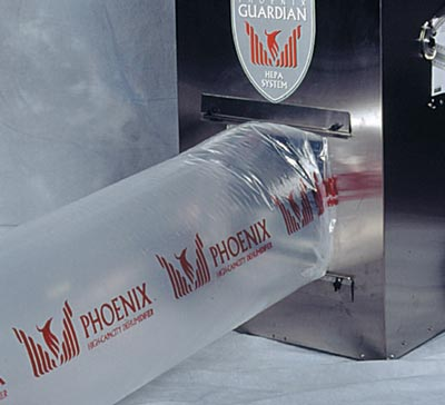 Thermastor phoenix guardian air scrubber with ducting